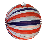 Jacques Prévot Artifices - douzaine de lampions ballon tricolore 22 cm