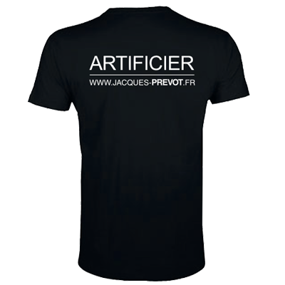 Jacques Prévot Artifices - Tee-shirt Artificier Taille M