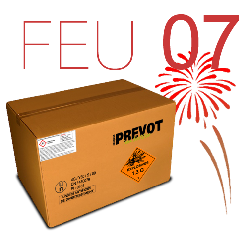 Exemple d'un feu d'artifice n°7 issu du catalogue Jacques PREVOT